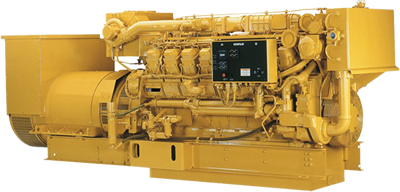 Caterpillar engine and generator
